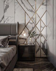 Home Decor Plants Master Bedroom Interior, Luxury Bedroom Design, Modern Master Bedroom, Minimalist Bedroom, Contemporary Bedroom, Bedroom Decor, Wall Decor, Modern Interior, Interior Styling