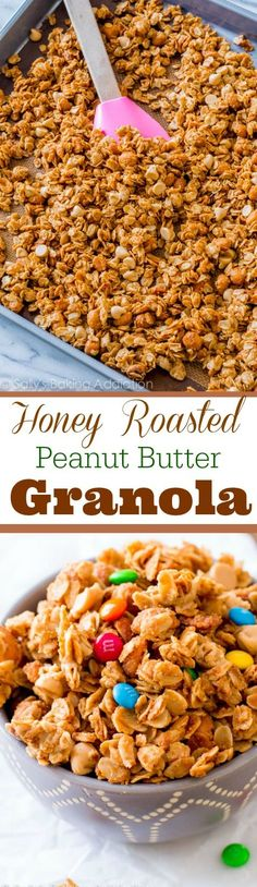 If you like peanut butter and honey, this easy and healthy 7 ingredient granola is for you!!