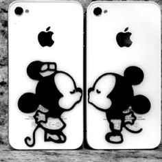 OMG that is so cool and so sweet! Minnie and Mickey are my favorite disney couple! Minnie And Mickey FLEEK! Couples Phone Cases, Couple Cases, Disney Phone Cases, Iphone 3, Iphone Skins, Iphone Decal, Ipod Cases, Cute Phone Cases, Mickey Mouse