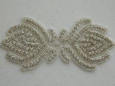 Bridal Accessories Crystal Applique Wedding Applique Rhinestone Applique Rhinestone Applique Sash Applique Model:DSCN2307. $14.95, via Etsy.