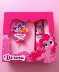 caixa tubete e latinha my little pony