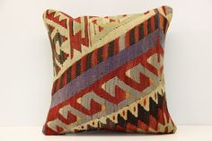 Turkish Vintage Kilim Pillow Cover 16 x 16 Handwoven Pillow Rustic Organic Pillow  Modern Pillow Cushion Cover Ethnic Pillow  M-1431 by kilimwarehouse on Etsy