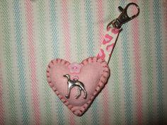 Pink Felt Greyhound Keyring £2.99