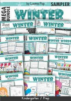FREE Kindergarten Winter Math and Literacy Mega Bundle Sampler.