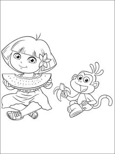 Dora the Explorer, Swiper no swiping coloring page