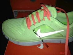 hot punch lace Nike Free Runs 3 Liquid Lime
