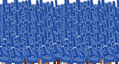 """Go Marriage Equality!"" foam hands by Revel & Riot"