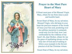 Prayer to the Most Pure Heart of Mary