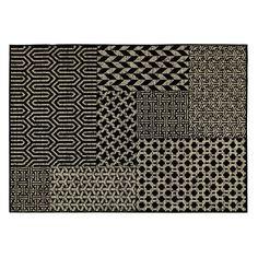 motifs, noir et blanc, géométrie