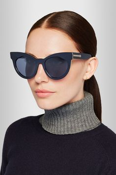 3133da473b8 Karen Walker - Starburst cat-eye acetate sunglasses