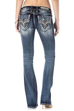 26d7f641f168 Rock Revival Jeans Womens Lanlan B206 MediumDark Wash Boot Cut 27 -- You  can find