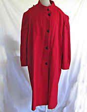 Vintage 70s Red Coat Lady Suzette Plus Size Maxi Deadstock Oversize Military