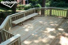 Deck railing and bench