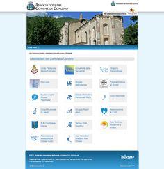 Portale delle associazioni di Condino e relativi minisiti in linea con il layout grafico del Comune stesso.