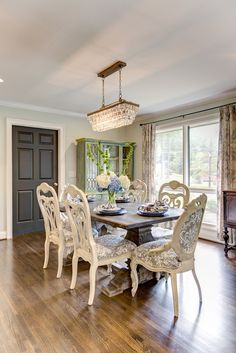 Image result for eberline chandelier in farmhouse dining room