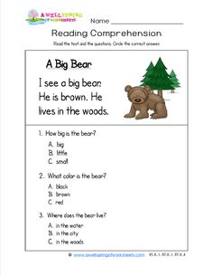 Worksheets Sentence Comprehension Worksheets a funny bug has three simple sentences and comprehension kindergarten reading worksheets there are 18 sight word rich in this set