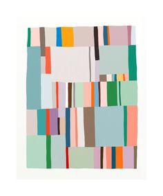 Bold rectangular colors.