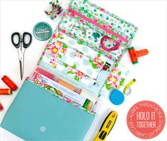 This sewing carry-all has a space for everything! Do you know a sewist that could use one of these? Get the Thread Box & Sewing Kit Carry Case tutorial from Sew4Home.