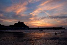 Mont Orgueil Castle at sunrise