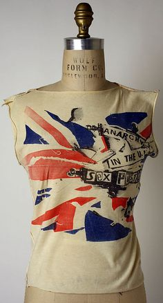 """Vivienne Westwood punk fashion designs """"Anarchy in the UK"""" - 1976 - British. The Metropolitan Museum of Art, New York. Purchase, Richard Martin Bequest and Friends of The Costume Institute Gifts, 2006 Punk Fashion, Vintage Fashion, Hijab Fashion, Street Fashion, Mode Punk, Costume Institute, British Style, British Punk, Mannequins"""