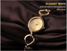 $14.00 WEIQIN Brand New Fashion Ladies Luxury Gold Quartz Wristwatches Women Famous Brand Rhinestone Watches #Fashion #Ladies #Luxury #Gold #Quartz #Wristwatches #Watches