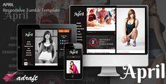 April - Responsive Tumblr Theme . April has features such as Compatible Browsers: IE7, IE8, IE9, IE10, Firefox, Safari, Opera, Chrome, Columns: 3