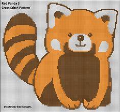 Red Panda 3 Cross Stitch Pattern   Craftsy