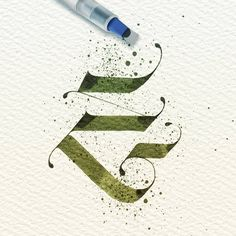 "Letter ""E"" design Tattoo Lettering Design, Gothic Lettering, Types Of Lettering, E Letter Design, Graphic Design Letters, Typography Layout, Typography Letters, Hand Lettering For Beginners, Graffiti Tattoo"