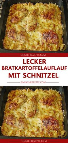 Delicious fried potato casserole with schnitzel 😍 😍 😍 - Partygerichte - Dinner Recipes Easy Healthy Recipes, Fall Recipes, Easy Meals, Dinner Recipes, Potato Casserole, Casserole Recipes, Slow Cooking, Benefits Of Potatoes, Tasty