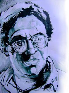 Retrato de Roberto Maracalle Abreu, 13.5x19.5 pulg., Acrílica sobre papel, Domingo Guzmán, 2011.