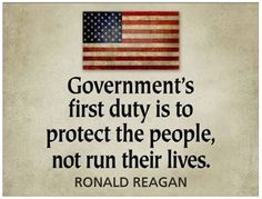The only duty of the government so citizens can work & provide for their families.