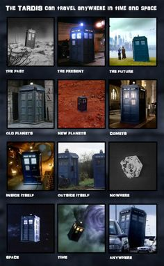 Doctor Who: The TARDIS, next stop anywhere!  Do you really think that it could park inside itself though? YES!