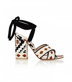 Gianvito Rossi Cheyenne Ankle-Tie Sandals