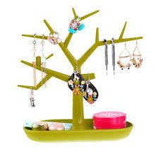 Green Tree Jewelry Earring Necklace Ring Stand Show Rack Display Holder