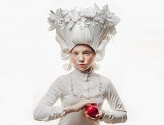 the 'baroque paper wigs' reappropriate the wild hairstyles of victorian-era women and men