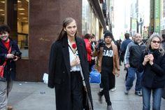 Last shot of New York Fashion Week Fall 2013    Model Karlie Kloss after Calvin Klein show