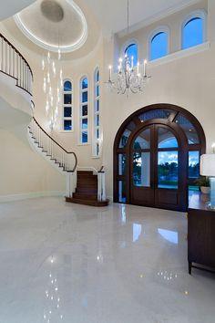Dream House Interior, Luxury Homes Dream Houses, Dream Home Design, Modern House Design, Home Interior Design, Luxury Interior, Modern Mansion Interior, Modern Houses, Luxury Staircase