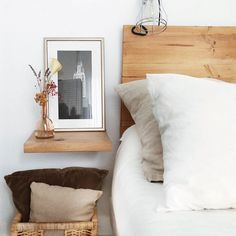 Decor, Wall Bedside Table, Home Bedroom, Online Furniture, Bed Pillows, Cozy House, Home Decor, Room, Home Deco