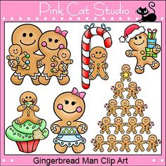 Christmas Gingerbread Man Clip Art Set - Use these gingerbread man designs to add fun and whimsy to your Christmas theme teaching resources. This product is a .zip file. The individual designs are saved in PNG format with transparent backgrounds so that the images can be layered and easily positioned.The .zip file contains:- 12 color 300 ppi png files- 12 black & white 300 ppi png filesTerms of Use - Click here to read the termsPlease read my terms before making your purchase.