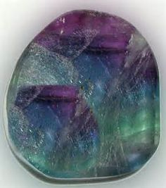 This gorgeous Rainbow Fluorite Crystal Slab has been activated in our ...