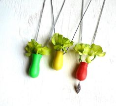 Cute! Turn a Toy Bowling Pin into a Vase Necklace