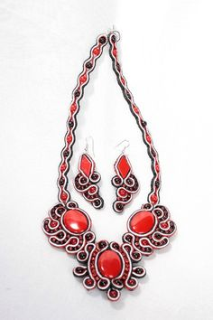 Necklace & Earrings set. Handmade. FREE delivery. by DASHARTSTUDIO, $159.00