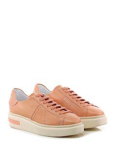 Manuel Barcelò - Sneakers - Donna - Sneaker in pelle con logo su retro e suola in gomma. Tacco 45, platform 30 con battuta 15. - PINK - € 225.00