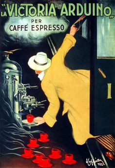 3077.Victoria Arduino Expresso Coffee Red Poster.Home Room Office Art Decoration