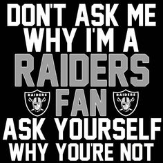Check out all our Oakland Raiders merchandise! Oakland Raiders Memes, Raiders Vegas, Oakland Raiders Wallpapers, Raiders Stuff, Raiders Girl, Oakland Raiders Football, Nfl Oakland Raiders, Pittsburgh Steelers, Dallas Cowboys