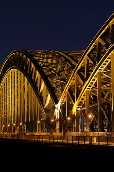 Hohenzollern bridge in Cologne, Germany.