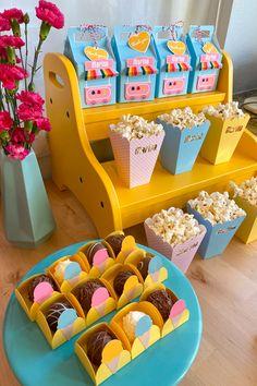 Candy Theme Birthday Party, Girl Birthday Decorations, Girl Birthday Themes, 10th Birthday Parties, 3rd Birthday, Ice Cream Theme, Ice Cream Party, Ice Cream Decoration, Box