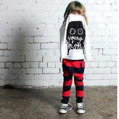 MINTI Bronx Trackie Red/Midnight Stripe | STYLE MILK SHOP - Australian Fashion Online