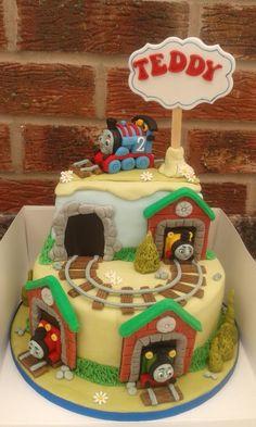 Thomas the tank engine cake by Karen Flude