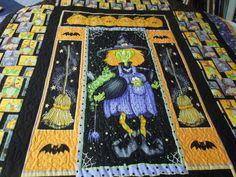 """Halloween Toil and Trouble Witch Quilt   46"""" x 60"""""""
